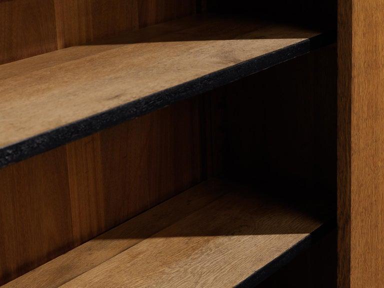 Hendrik Wouda for Pander Art Deco Bookshelf in Oak For Sale 2