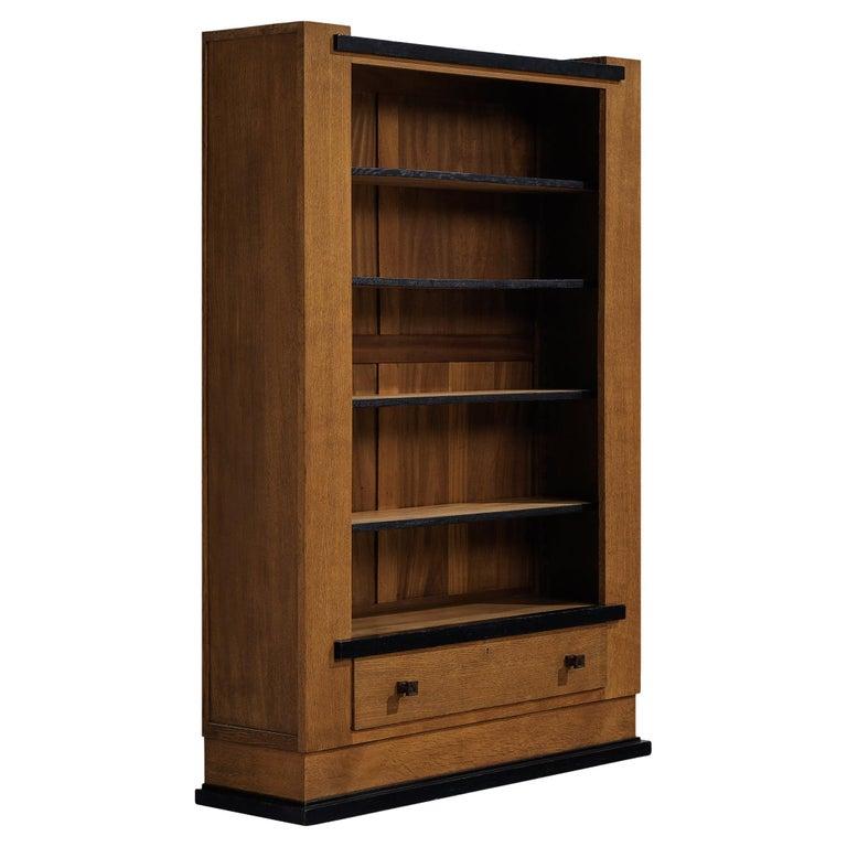 Hendrik Wouda for Pander Art Deco Bookshelf in Oak For Sale