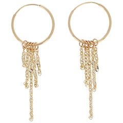Hendrix Hoops 14 Karat Yellow Gold