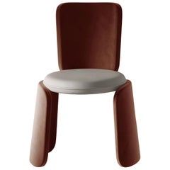 Henge Contemporary Chair Fully Upholstered by Artefatto Design Studio