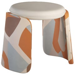 Henge Contemporary Pouf Fully Upholstered by Artefatto Design Studio