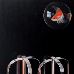 Mixed Feelings - animal realism abstract painting 21st Century Contemporary Art