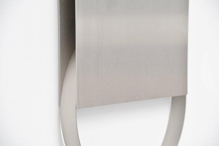 Dutch Henk Van Putten Stainless Steel Wall Sculpture Holland, 1999 For Sale