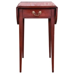 Henkel Harris Georgian Mahogany Drop-Leaf Pembroke Side Table