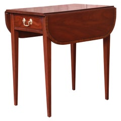 Henkel Harris Georgian Mahogany Drop Leaf Pembroke Side Table