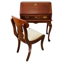 "Henkel Harris Solid Cherry ""Lady Astor"" Queen Anne Desk and chair"