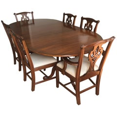 Henkel Harris Stately Queen Anne Style Traditional Mahogany Dining Set