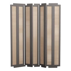 Henley Street Paravant by Yabu Pushelberg in Mist Lacquered Oak and Woven Cane
