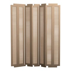 Henley Street Paravant by Yabu Pushelberg in Nude Lacquered Oak and Woven Cane