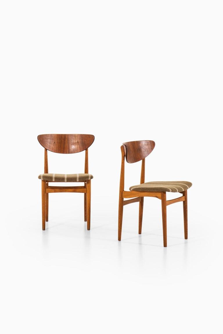 Scandinavian Modern Henning Kjærnulf Dining Chairs Produced by Sorø Stolefabrik in Denmark For Sale