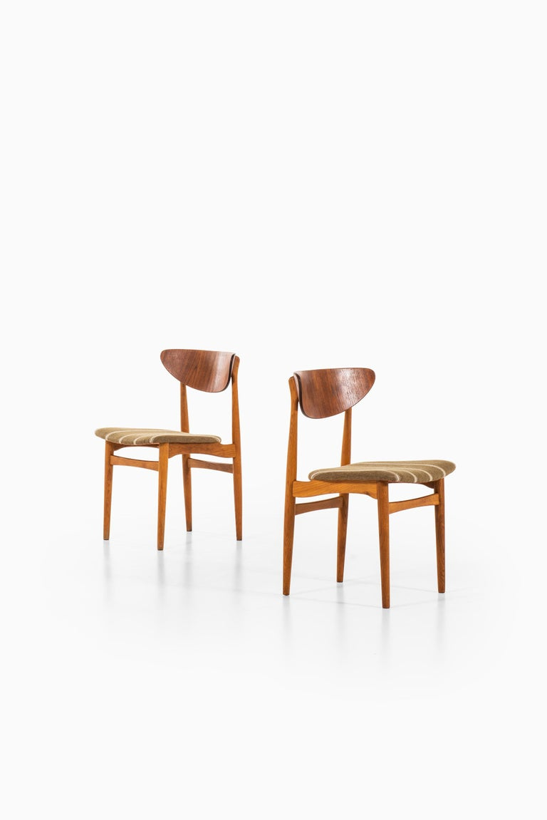 Danish Henning Kjærnulf Dining Chairs Produced by Sorø Stolefabrik in Denmark For Sale