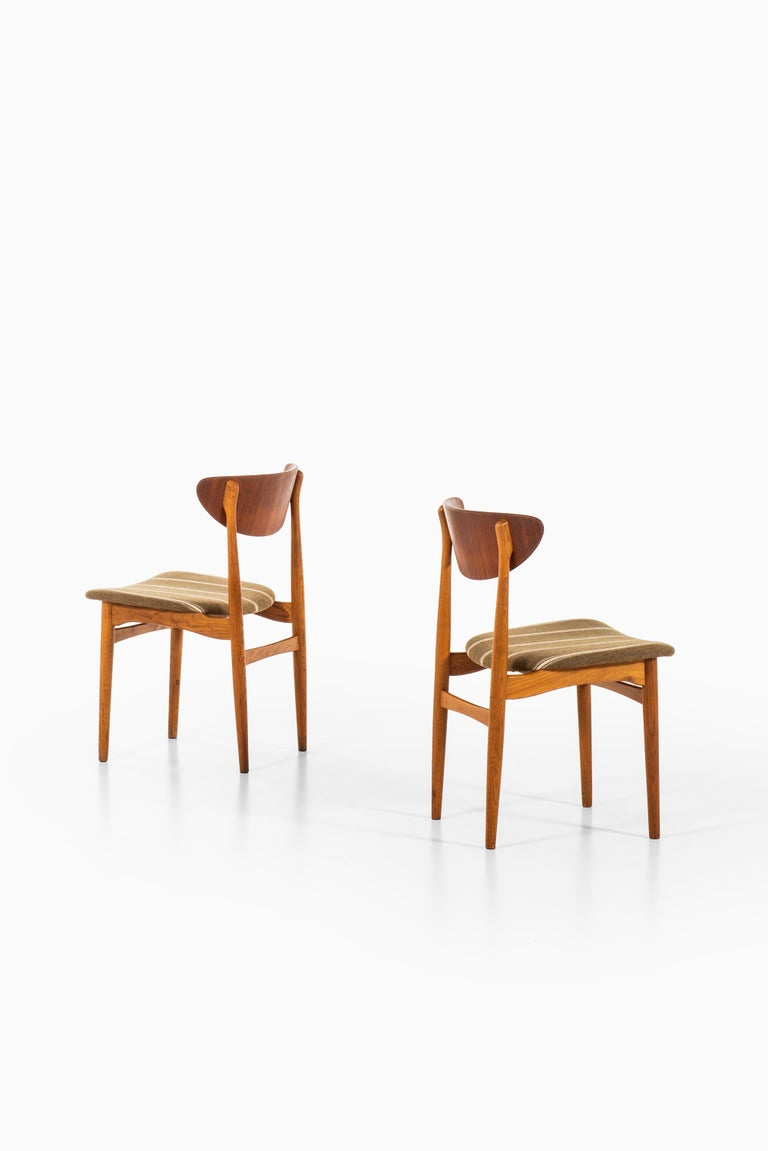 Henning Kjærnulf Dining Chairs Produced by Sorø Stolefabrik in Denmark For Sale 1