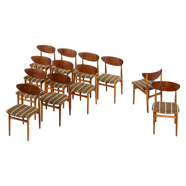 Henning Kjærnulf Dining Chairs Produced by Sorø Stolefabrik in Denmark For Sale