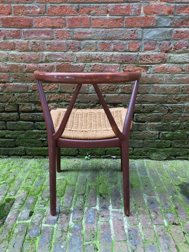 Henning Kjaernulf for Bruno Hansen Teak Chair For Sale 4
