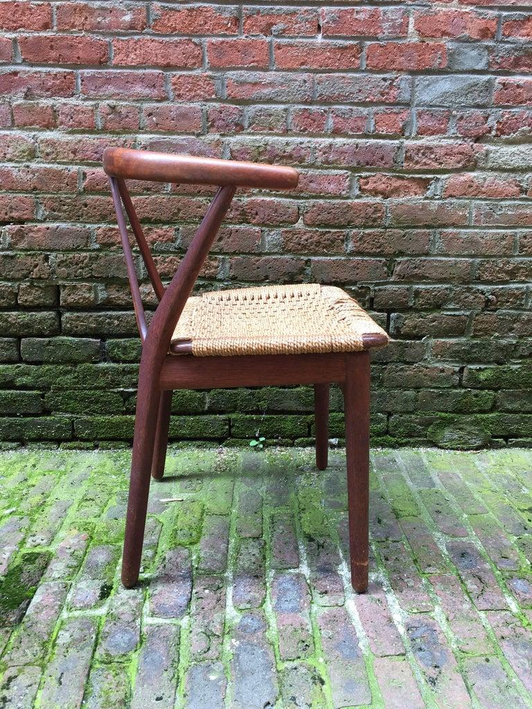 Henning Kjaernulf for Bruno Hansen Teak Chair For Sale 5