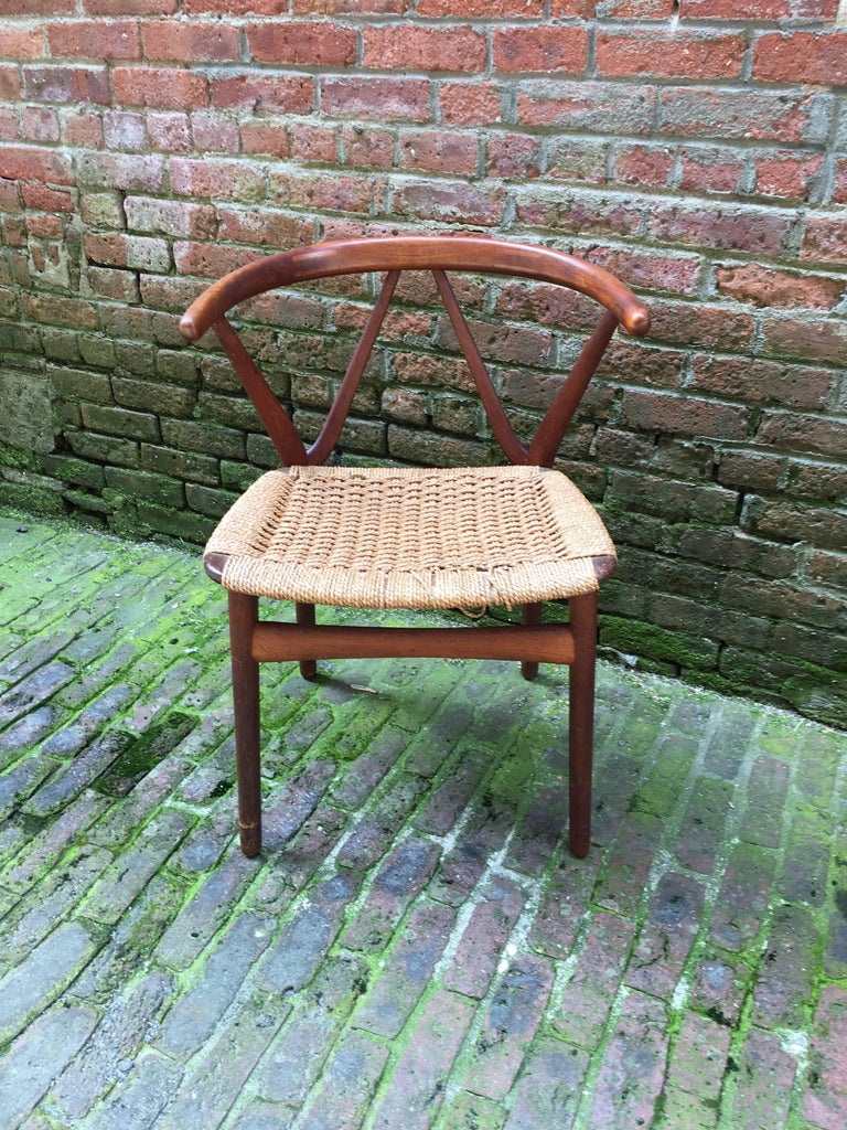 Scandinavian Modern Henning Kjaernulf for Bruno Hansen Teak Chair For Sale