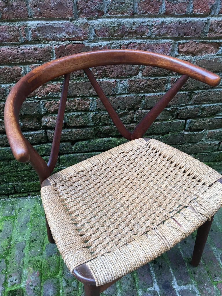 Danish Henning Kjaernulf for Bruno Hansen Teak Chair For Sale