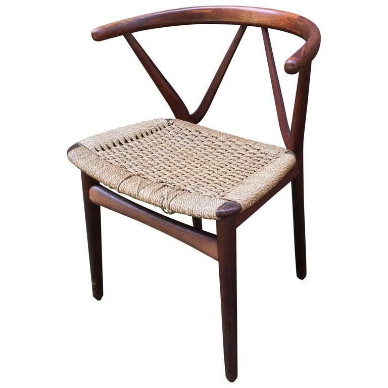 Henning Kjaernulf for Bruno Hansen Teak Chair For Sale