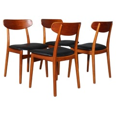 Henning Kjærnulf Four Oak Dining Chairs
