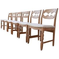 Henning Kjaernulf Razorblade Midcentury Danish Dining Chairs '20'