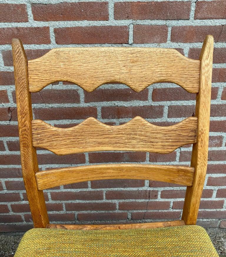 Henning Kjaernulf, Set of Six 'Razorblade' Danish Dining Room Chairs For Sale 3
