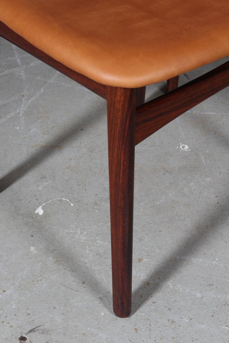Danish Henning Kjærnulf Six Dining Chairs For Sale