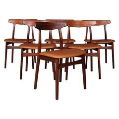 Henning Kjærnulf Six Dining Chairs