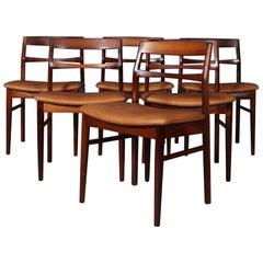 Henning Kjærnulf Six Rosewood Dining Chairs