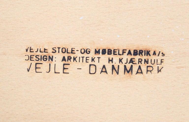 Henning Kjærnulf Teak & Leather Dining Chairs for Vejle Møbler For Sale 4