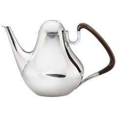 Henning Koppel 1017 Sterling Silver Guayacan Coffee Pot for Georg Jensen