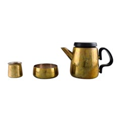 Henning Koppel for Georg Jensen, Coffee Pot and Sugar/Cream Set