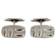 Henning Koppel for Georg Jensen, a Pair of Modernist Cufflinks
