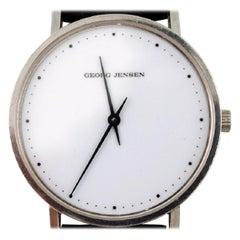 Henning Koppel Gentleman's Wristwatch of Steel, Manufactured by Georg Jensen