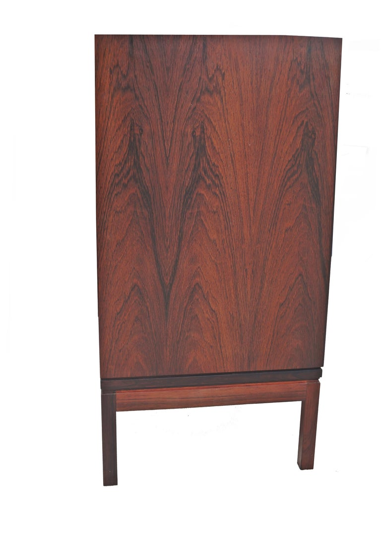 Other Henning Korch Rosewood Campaign Jewelry Lingerie Chest Dresser Flat File For Sale