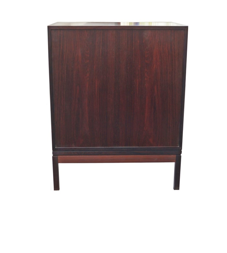Henning Korch Rosewood Campaign Jewelry Lingerie Chest Dresser Flat File For Sale 1