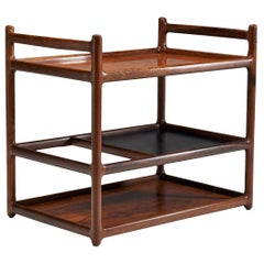 Henning Korch Rosewood Serving Cart for C.F. Christensen, Denmark, 1960s
