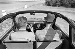 Front seats and dashboard of the Volkswagen beetle, Germany 1938 Printed Later