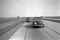Two models of the Volkswagen beetle, Germany 1938 Printed Later
