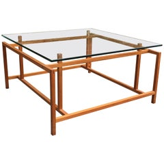 Henning Norgaard Teak and Glass Danish Modern Coffee Table for Comfort