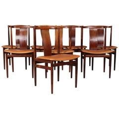 Henning Sørensen, Set of Eight Rosewood Chairs