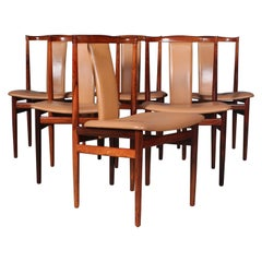 Henning Sørensen, Set of Six Rosewood Chairs