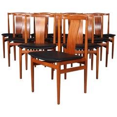 Henning Sørensen, Set of Ten Teak Chairs