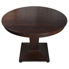 Henredon Acquisitions Round Mahogany Center Pedestal Table Traditional Modern