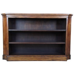 Henredon Acquisitions Walnut Console Library Bookcase Entry Table 3403-44
