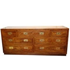 Henredon Campaign Style Seven-Drawer Dresser