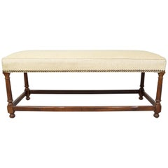 Henredon English Regency Bench Having Walnut Frame