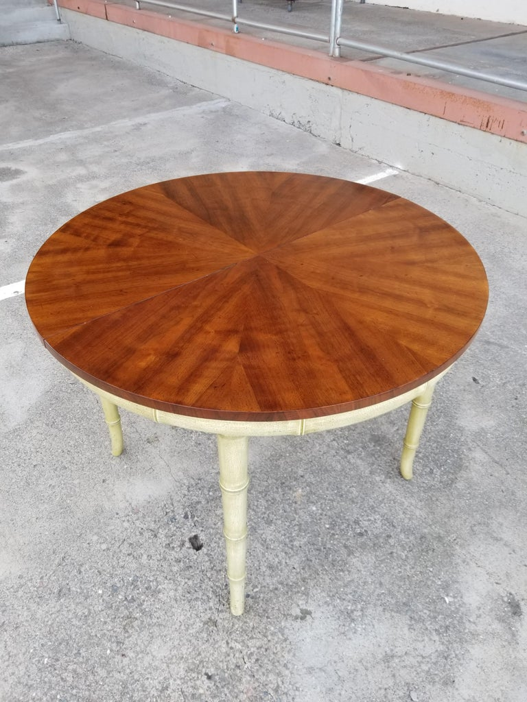 20th Century Henredon Faux Bamboo Dining Set, 7-Piece Set