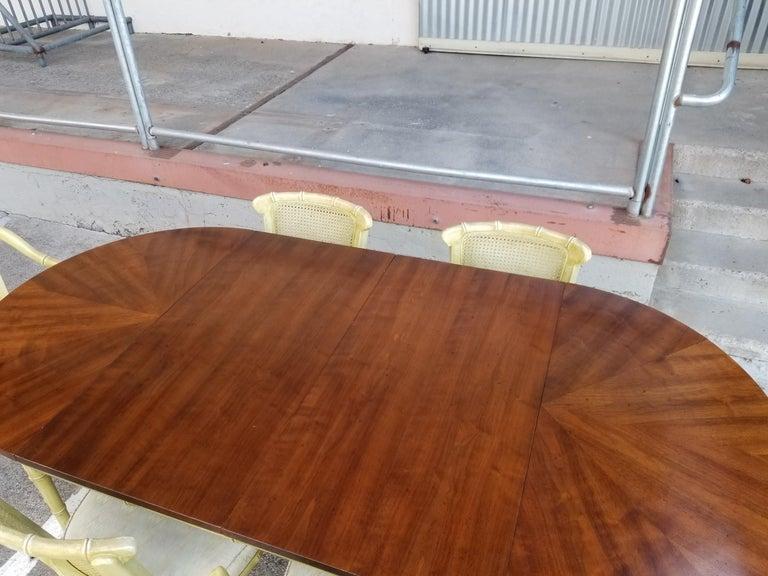 Wood Henredon Faux Bamboo Dining Set, 7-Piece Set