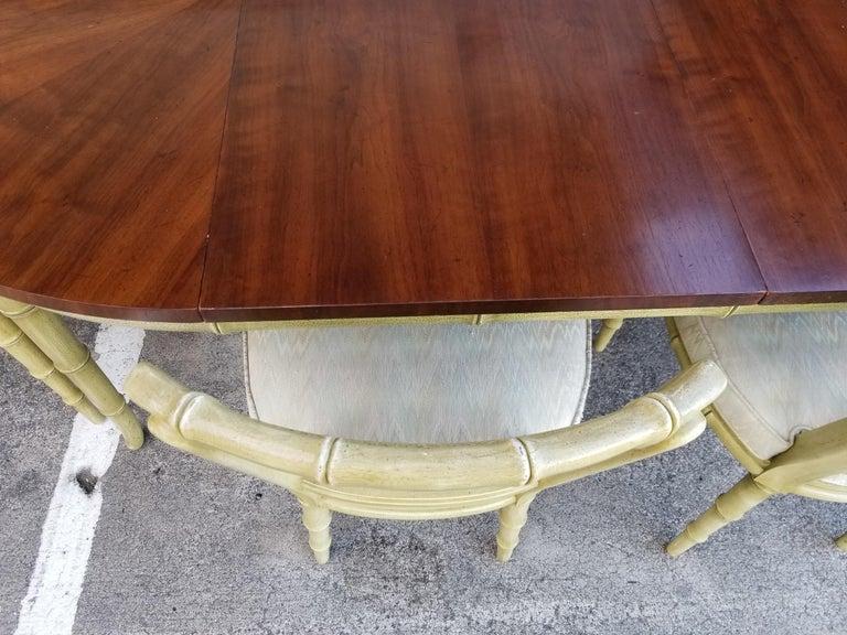 Henredon Faux Bamboo Dining Set, 7-Piece Set 1