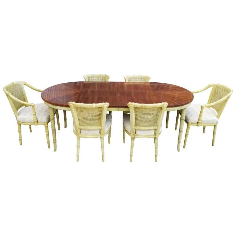 Henredon Faux Bamboo Dining Set, 7-Piece Set